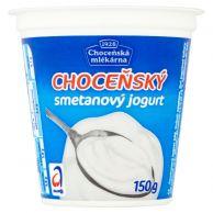 Choceňský smetanový jogurt bílý 150g
