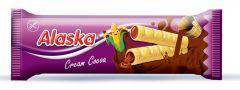 Alaska Cocoa Cream kukuřičná trubička náplň kakaový krém 18g