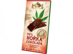 Čokoláda hořká s konopnými semínky 80g