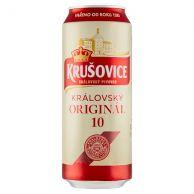 Krušovice Královská 10  pivo světlé výčepní 0,5L plech