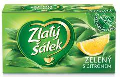 Čaj Zlatý šálek Zelený s citronem 20x1,5g