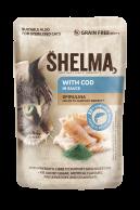 Shelma kapsička kočka treska/spirulina 85g